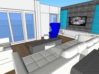 SERPİCİ's Mimarlık ve İç Mimarlık Architecture and INTERIOR DESIGN Soggiorno moderno PVC Bianco