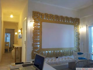 SERPİCİ's Mimarlık ve İç Mimarlık Architecture and INTERIOR DESIGN Interior landscaping Komposit Kayu-Plastik Amber/Gold