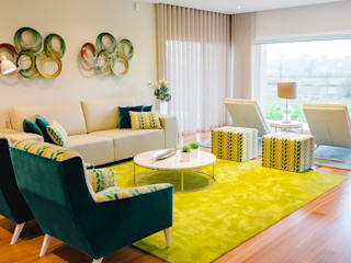 TRAÇO 8 INTERIORES Living roomSofas & armchairs Tekstil Green
