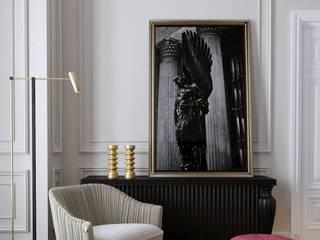 Интерьер гостиной Гостиная в классическом стиле от АРХИДЖЕМ Классический