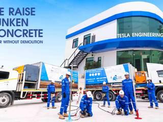 Tesla Engineering บริการซ่อมพื้นทรุด โดยไม่ต้องทุบพื้น นวัตกรรมใหม่ จาก USA บริษัท เทสล่า เอ็นจิเนียริ่ง จำกัด