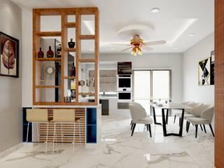Thiết kế và thi công nội thất nhà phố dự án Thăng Long Home bởi TNHH xây dựng và thiết kế nội thất AN PHÚ CONs 0911.120.739 Châu Á