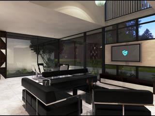 Casa VT Salones modernos de Geometrica Arquitectura Moderno