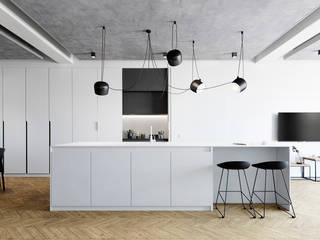 WHITE SPACE Кухня в стиле минимализм от Студия ARTZONE Минимализм