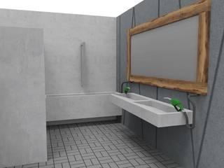 Proyecto BP Baños rústicos de MODULOR Rústico