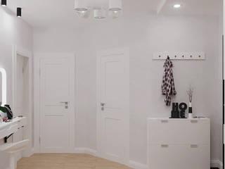 Квартира на ул. Советская в г. Томск Коридор, прихожая и лестница в скандинавском стиле от Алла Слесарева Скандинавский