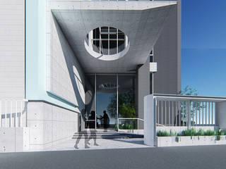 Modern corridor, hallway & stairs by 尋樸建築師事務所 Modern