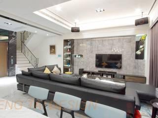 楊律師新建住宅案 现代客厅設計點子、靈感 & 圖片 根據 澄太空間設計 現代風