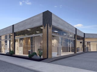 Showroom de Acabados Arquitectónicos de Rapzzodia Interiorismo Moderno