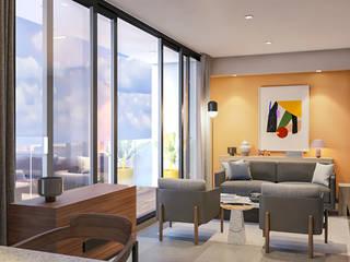 CM Airbnb Luxe Hoteles de estilo moderno de Rapzzodia Interiorismo Moderno