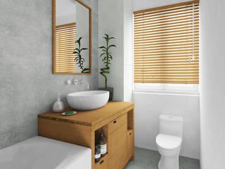 現代浴室設計點子、靈感&圖片 根據 Agence KP 現代風