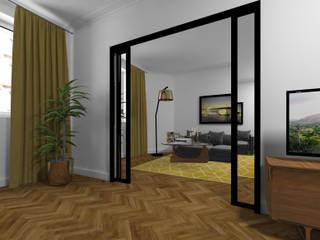现代客厅設計點子、靈感 & 圖片 根據 Agence KP 現代風