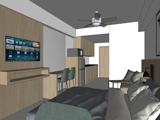 Quadraforma Construction Dormitorios de estilo moderno Contrachapado Beige