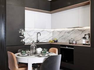 Mieszkanie na Podgórzu inPOINT Architektura Wnętrz Aneks kuchenny
