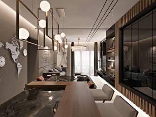LIVING & DINING AREA FOR V RESIDENCE, SUNWAY VELOCITY by Seventech Design
