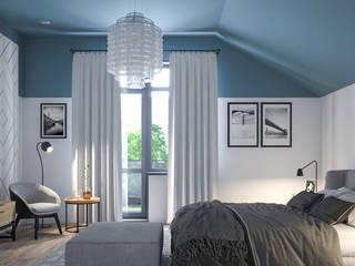 Dormitorios escandinavos de Альберт Галимов Escandinavo