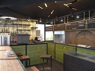 Industrial style kitchen by Мастерская Alines Industrial