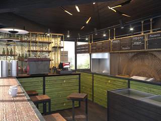Небольшая подборка наших визуализаций Кухня в стиле лофт от Мастерская Alines Лофт