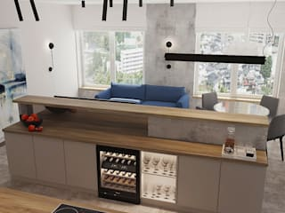 Modern Living Room by Мастерская Alines Modern