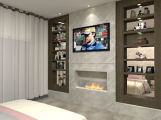 Modern Yatak Odası Laene Carvalho Arquitetura e Interiores Modern