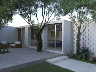 Casa Patio Balcones y terrazas modernos de EMERGENTE | Arquitectura Moderno
