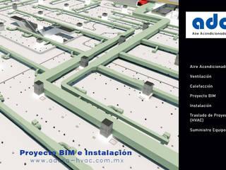MODELADO HVAC LIVERPOOL TLAXCALA Aire Diseño y Construcción Centros comerciales de estilo industrial Concreto Blanco