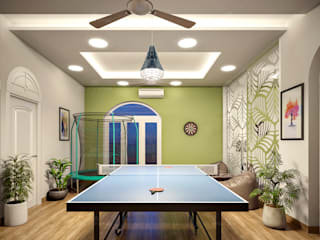 Monnaie Interiors Pvt Ltd Modern style conservatory Engineered Wood Wood effect