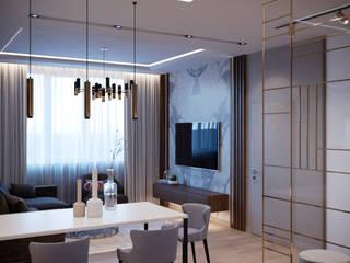 Проект московской квартиры Гостиная в стиле минимализм от metrixdesign Минимализм