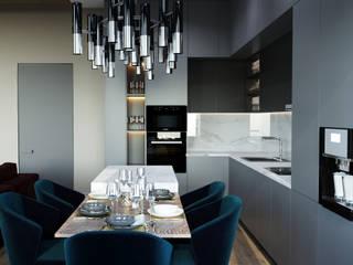 Проект квартиры в современном стиле от metrixdesign Минимализм