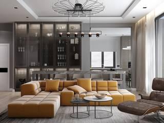 Проект частного дома Гостиная в стиле минимализм от metrixdesign Минимализм