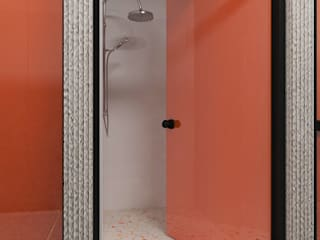 Diseño de baño para gimnasio- Caracas de Diaf design Industrial