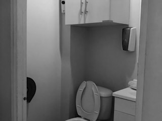 Gastro Bureau WC de Mona Mx Diseño Minimalista