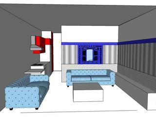 Salas de estilo minimalista de SERPİCİ's Mimarlık ve İç Mimarlık Architecture and INTERIOR DESIGN Minimalista
