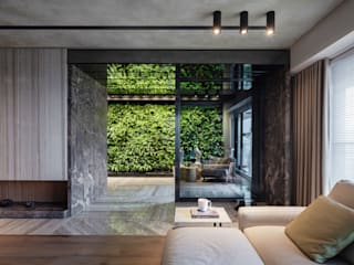Green Living from Within Modern Corridor, Hallway and Staircase by Guru Interior Design Consultant Modern
