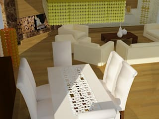 SERPİCİ's Mimarlık ve İç Mimarlık Architecture and INTERIOR DESIGN Modern dining room Wood-Plastic Composite White