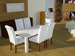 SERPİCİ's Mimarlık ve İç Mimarlık Architecture and INTERIOR DESIGN Ruang Makan Gaya Rustic Komposit Kayu-Plastik Amber/Gold