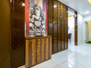 Shah residence Inklets studio Corridor, hallway & stairs Accessories & decoration