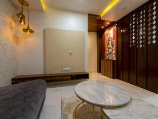Shah residence Inklets studio Living roomTV stands & cabinets