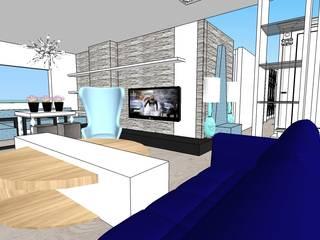 SERPİCİ's Mimarlık ve İç Mimarlık Architecture and INTERIOR DESIGN Paisajismo de interiores Textil Azul