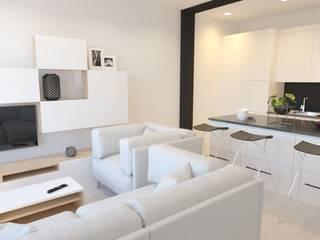 DISEÑO DE LOFT EN ALMUÑÉCAR INARQ Espacio Salones de estilo moderno Blanco