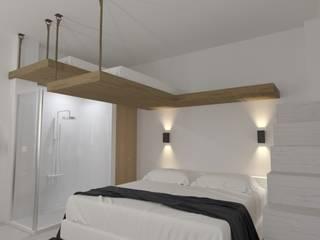 DISEÑO DE LOFT EN ALMUÑÉCAR INARQ Espacio Dormitorios pequeños Blanco