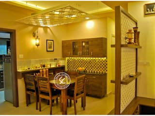 Residential interiors at TATA new heaven apartment, Bangalore Classic style dining room by Space Collage Classic