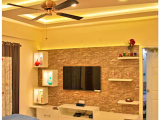 Residence at Kasturinagar, Bangalore Modern living room by Space Collage Modern