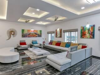 Interior at Sankeshwar, Karnataka Modern living room by A B Design Studio Modern