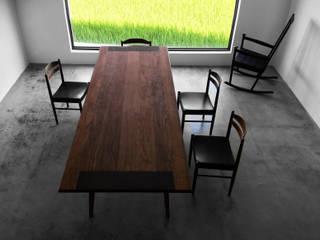 木耳生活藝術-實木桌設計/楔闊餐桌: 現代  by 木耳生活藝術, 現代風