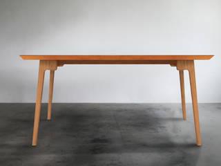 木耳生活藝術-實木桌設計/橄欖石餐桌: 現代  by 木耳生活藝術, 現代風