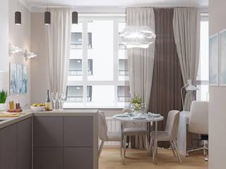 Дизайн-проект интерьера квартиры по адресу: ул. Скандинавский бульвар, дом 2, корпус 5 Кухня в стиле модерн от archiberry.ru Модерн