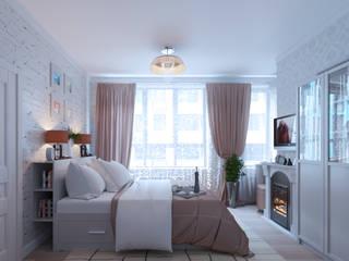 Дизайн-проект интерьера квартиры по адресу: ул. Скандинавский бульвар, дом 2, корпус 5 Спальня в стиле модерн от archiberry.ru Модерн