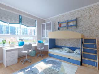 Дизайн-проект интерьера квартиры по адресу: ул. Скандинавский бульвар, дом 2, корпус 5 Детская комната в стиле модерн от archiberry.ru Модерн