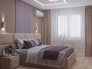 Дизайн-проект интерьера квартиры по адресу: улица Производственная, дом 10, корпус 1 Спальня в стиле минимализм от archiberry.ru Минимализм